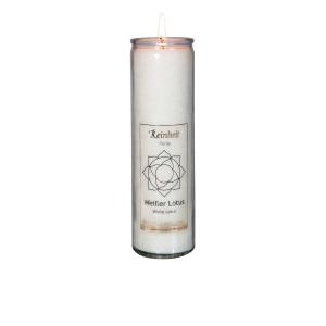 "Chakra-Kerze ""Weißer Lotus"", Produktbild 1"