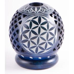 """Kugel-Teelichthalter """"Blume des Lebens"""", Blau, Produktbild 1"""