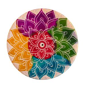 """Räucherstäbchenhalter """"Regenbogen-Mandala"""", Produktbild 1"""