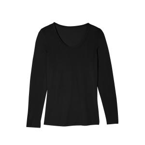 Bio-Seiden-Langarmshirt, Schwarz, Produktbild 1
