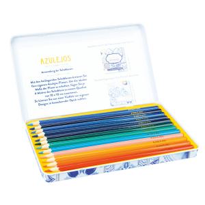 Azulejos Designdose mit 12 Premium-Buntstiften, Produktbild 1