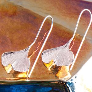 """Ohrhänger """"Ginkgo Blatt"""", Produktbild 1"""