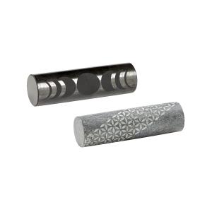 Schungit- und Talkchlorit-Zylinder, 2er Set, Produktbild 1