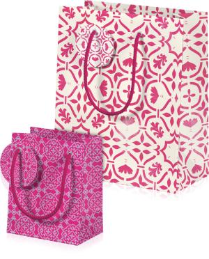 """Geschenktüten-Set """"Rosa Kaleidoskop"""", Produktbild 1"""