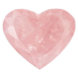 Rosenquarz-Herz facettiert, Produktbild 1