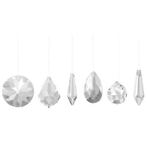 """Sonnenfänger-Kristalle """"Kristallklar"""", 6er Set, Produktbild 1"""