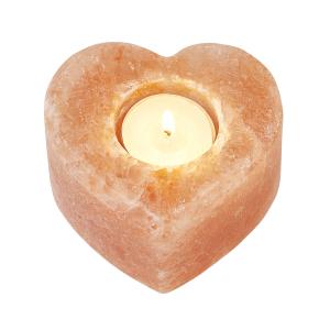 """Salzkristall-Teelichthalter """"Herz"""", Produktbild 1"""