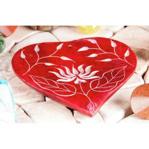 Räucherstäbchenhalter – Herz-Lotusblume , Produktbild 1