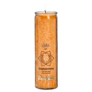 Kerze Svadhisthana - Sakral-Chakra - orange, Produktbild 1