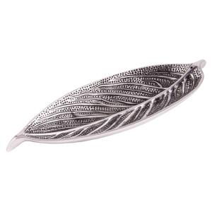 Räucherstäbchenhalter Blatt, Silberfarben, Produktbild 1