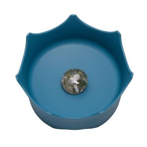 CrownJuwel Edelsteinwasserschale für Katzen und Hunde, ozeanblau, Produktbild 1