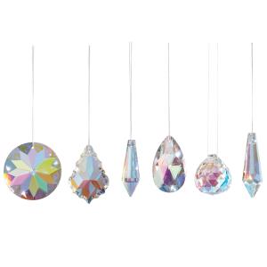 "Sonnenfänger-Kristalle ""Aurora-Borealis"", 6er Set, Produktbild 1"