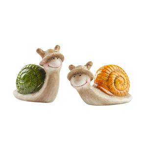 Keramik-Garten-Schnecken, 2er Set, Produktbild 1