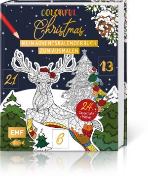 Mein Adventskalender-Buch zum Ausmalen – Colorful Christmas, Produktbild 1