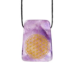 "Amethyst-Anhänger ""Blume des Lebens"", Produktbild 1"
