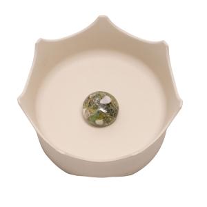 CrownJuwel Edelsteinwasserschale für Katzen und Hunde, naturweiß, Produktbild 1
