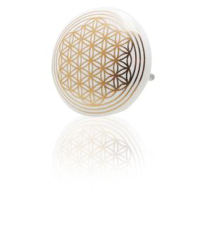"""Keramik-Knauf """"Blume des Lebens"""", Weiß, Produktbild 1"""