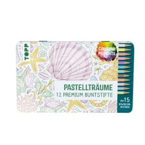 Colorful Moments Designdose mit Buntstiften – Pastellträume, Produktbild 1