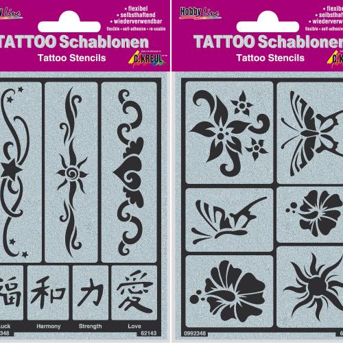 Tattoo-Schablonen Set, Produktbild 1