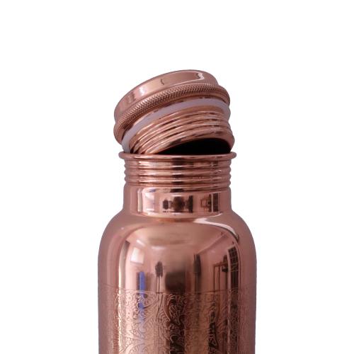 Kupfer-Wasserflasche graviert, Produktbild 2