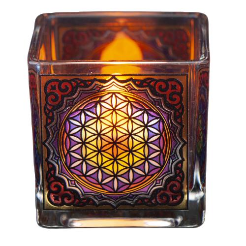 """Teelichthalter """"Blume des Lebens"""", Produktbild 1"""
