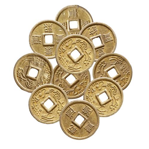 Chinesische Glücksmünzen, 10er Set, Produktbild 2