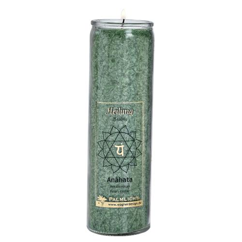Kerze Anahat - Herz-Chakra - grün, Produktbild 1