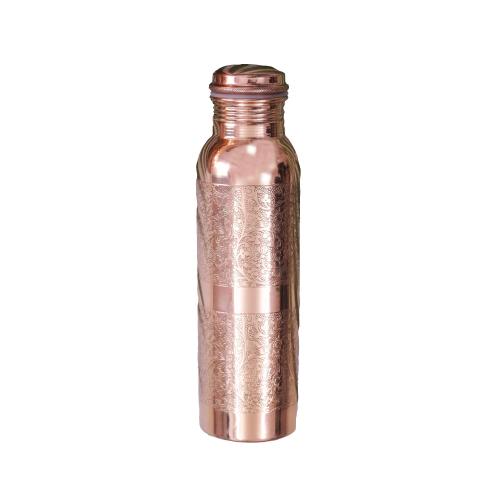 Kupfer-Wasserflasche graviert, Produktbild 4