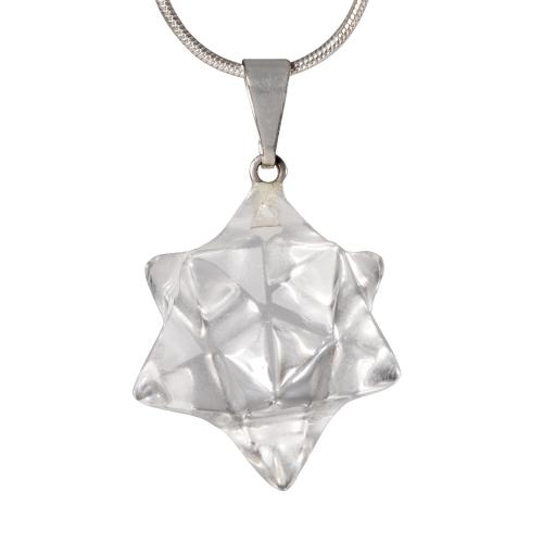 "Bergkristall Anhänger ""Sterndodekaeder"", Produktbild 1"