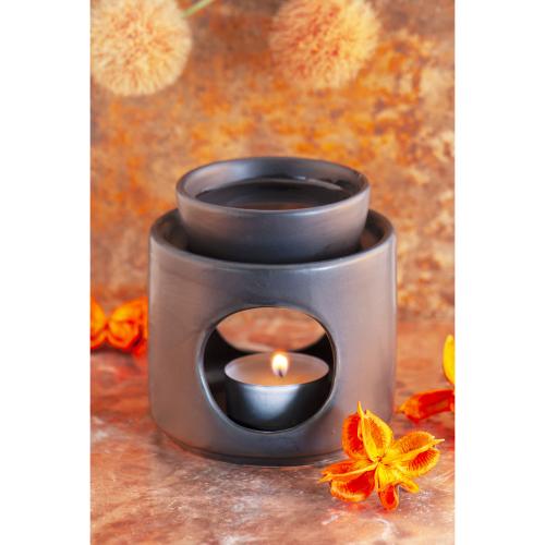 Keramik-Aromalampe, schwarz, Produktbild 2