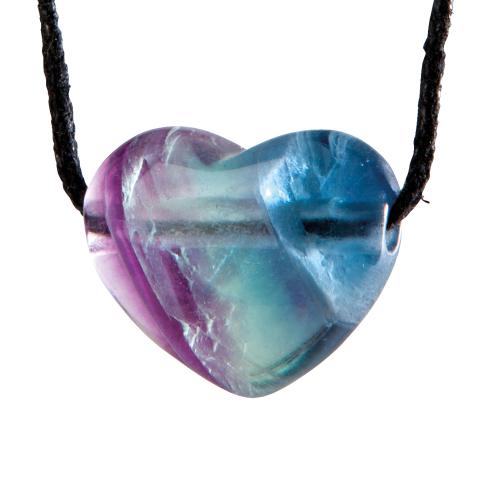 Herzanhänger Regenbogenfluorit, Produktbild 1