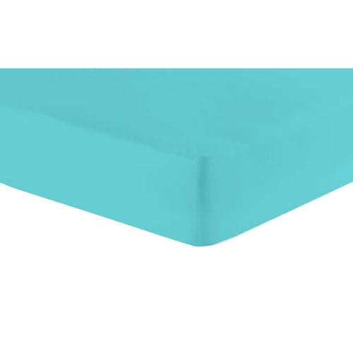 Jersey-Spannbetttuch, Türkis, Produktbild 1