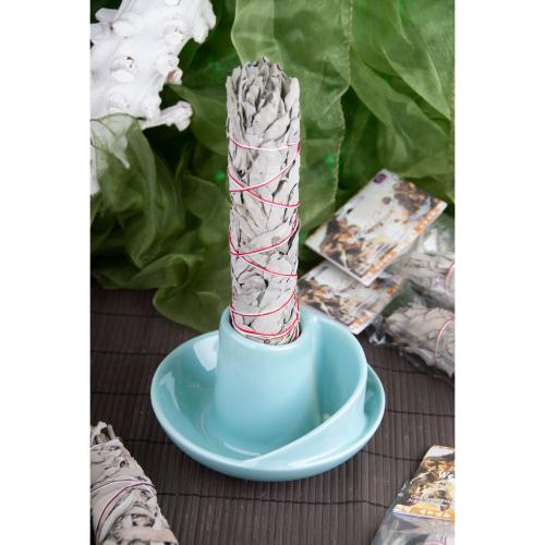 Räucherschale für Weißen Salbei, Türkis, Produktbild 2