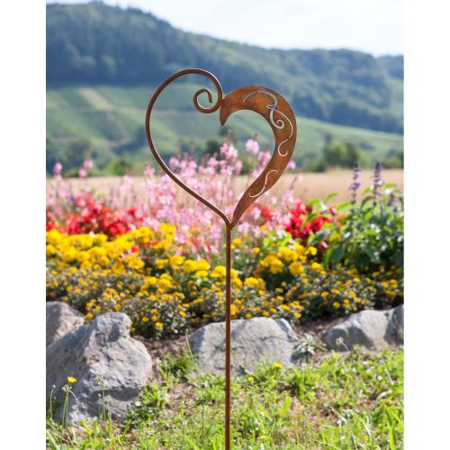Gartenstecker Herz gerostet, Produktbild 2