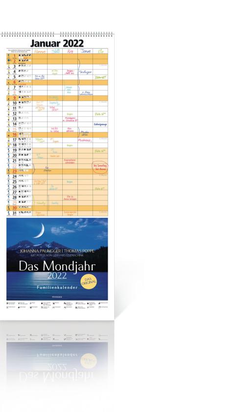 Das Mondjahr 2022 – Familienkalender, Produktbild 1