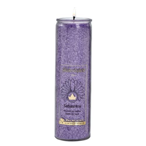 Kerze Sahasrara - Kronen-Chakra - violett, Produktbild 1