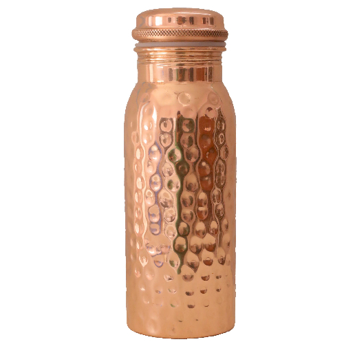 Kupfer-Wasserflasche gehämmert, Produktbild 1