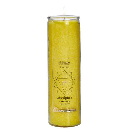 Kerze Manipura - Solarplexus-Chakra - gelb, Produktbild 1
