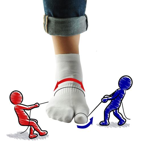 Hallux-Valgus-Socken , Schwarz, Produktbild 2
