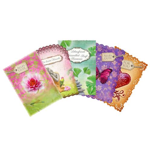 Gute-Wünsche-Karten, 5er Set, Produktbild 1
