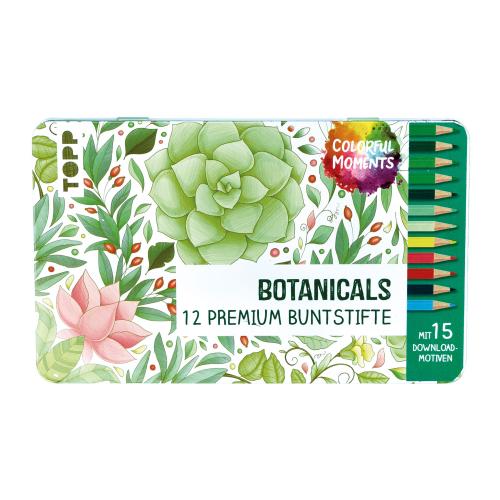 Colorful Moments Designdose mit Buntstiften – Botanicals, Produktbild 1