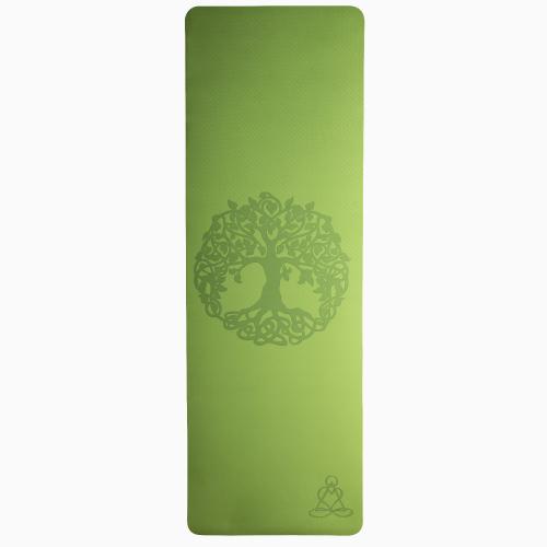 """Yogamatte """"Lebensbaum"""", Hellgrün/Grau, Produktbild 3"""
