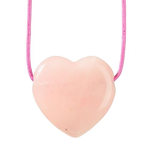Anhänger Rosenquarz-Herz, Produktbild 1