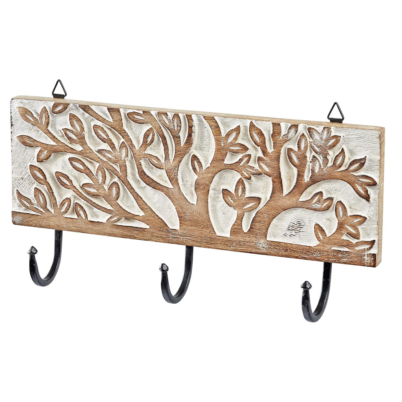 """Garderobenhaken """"Lebensbaum"""", Weiß, Produktbild 1"""
