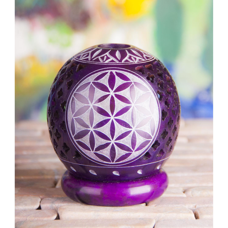 "Kugel-Teelichthalter ""Blume des Lebens"", Lila, Produktbild 2"