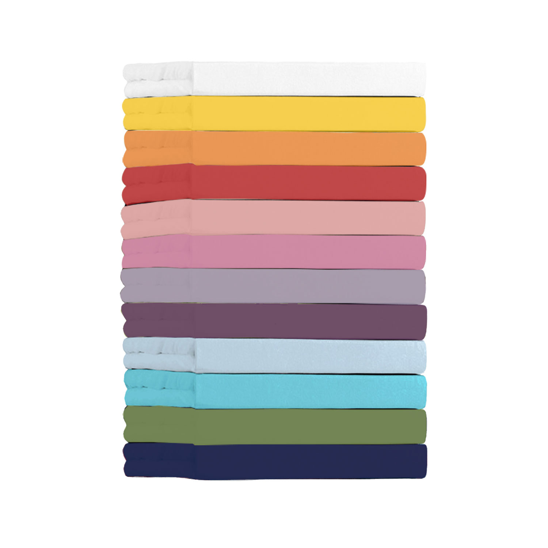 Jersey-Spannbetttuch, Weiß, Produktbild 2