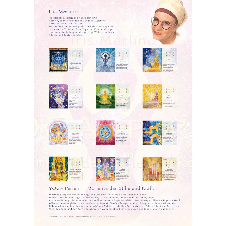 """Immerwährender Kalenderaufsteller """"Yoga Perlen"""", Produktbild 4"""