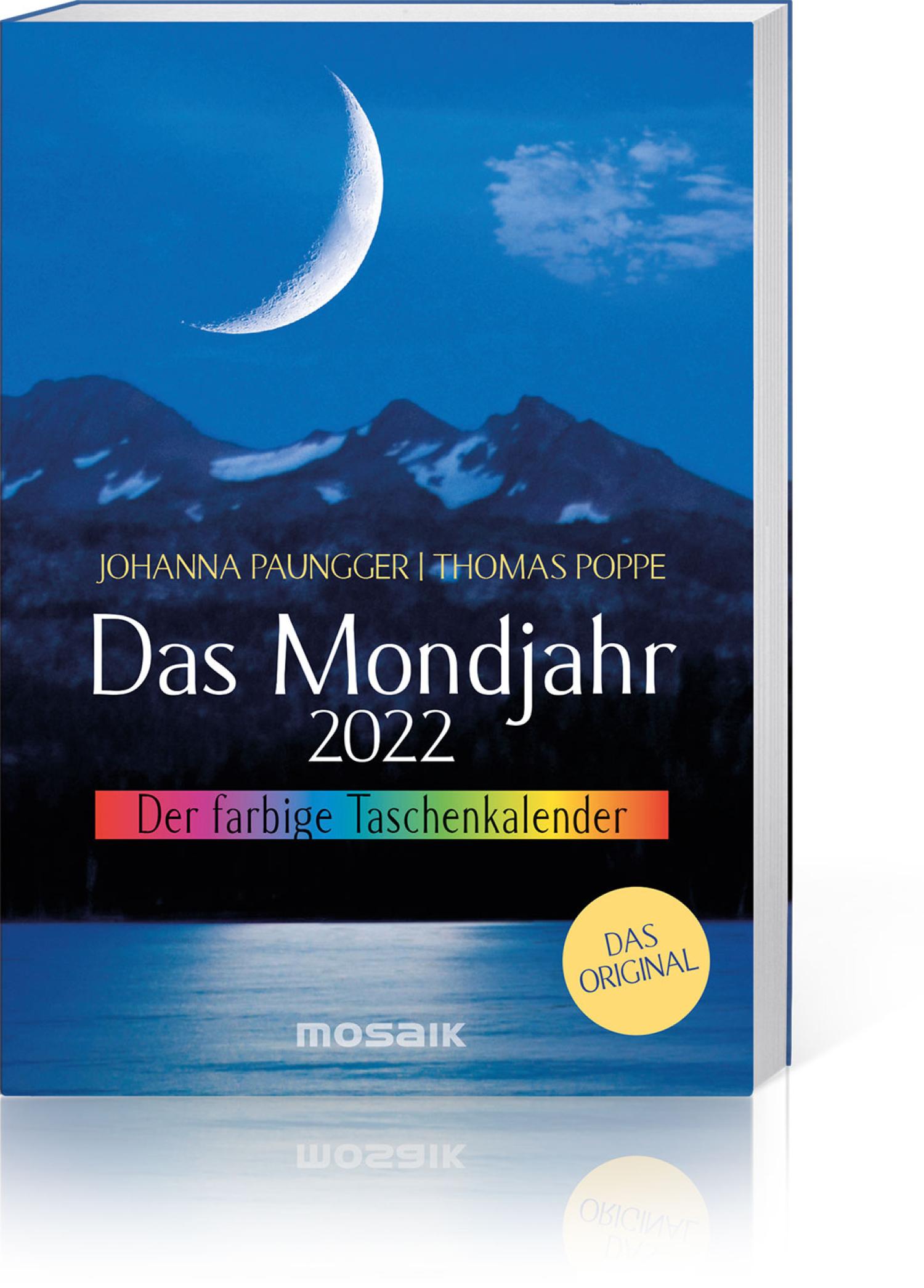 Das Mondjahr 2022 – Der farbige Taschenkalender, Produktbild 1