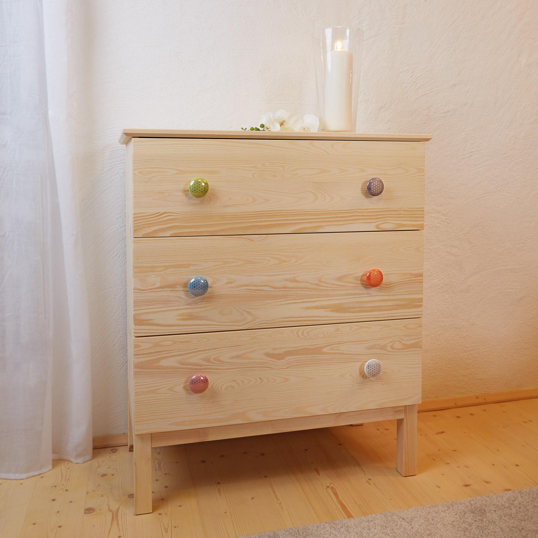 """Keramik-Knauf """"Blume des Lebens"""", Weiß, Produktbild 2"""