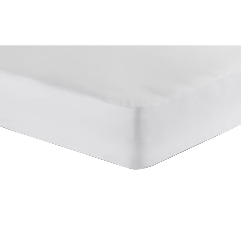 Jersey-Spannbetttuch, Weiß, Produktbild 1